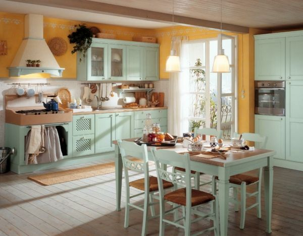 Attirant Mint Country Kitchen