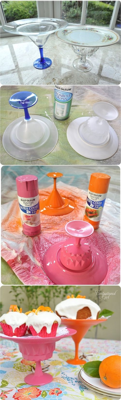 Diy cake stands pictures photos and images for facebook for Plate cake stand diy
