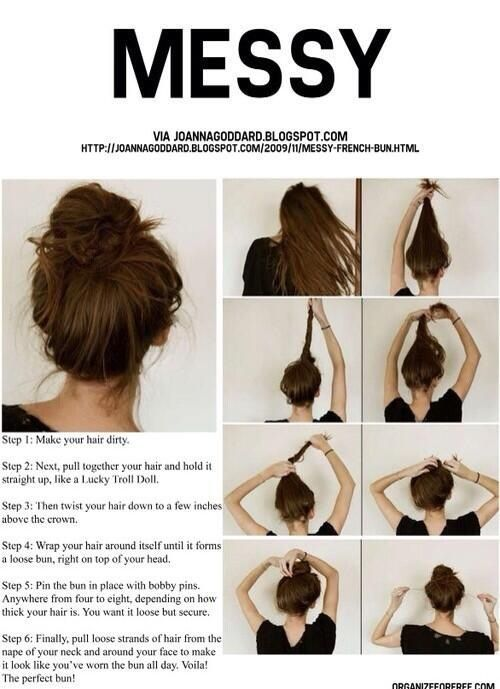 Messy Bun Tutorial Pictures Photos And Images For