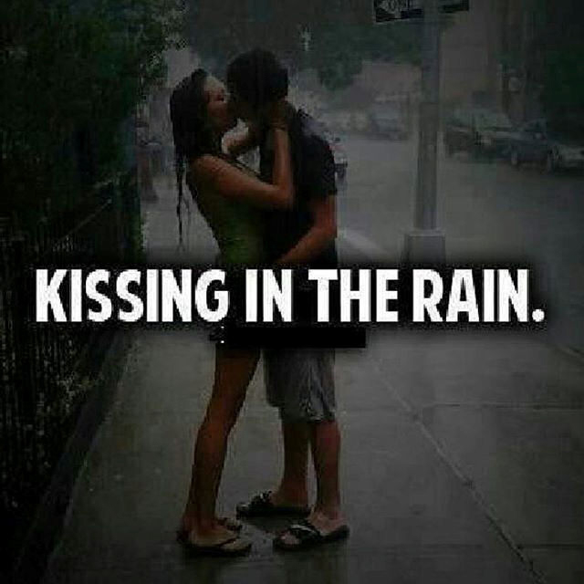 kissing in the rain pictures photos and images for