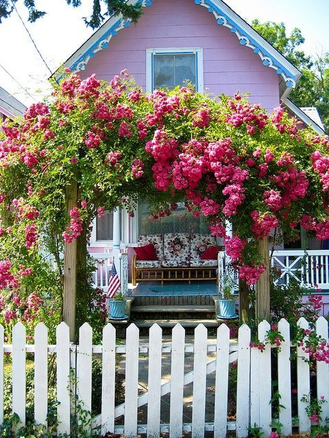 Adorable House With White Picket Fence Pictures Photos