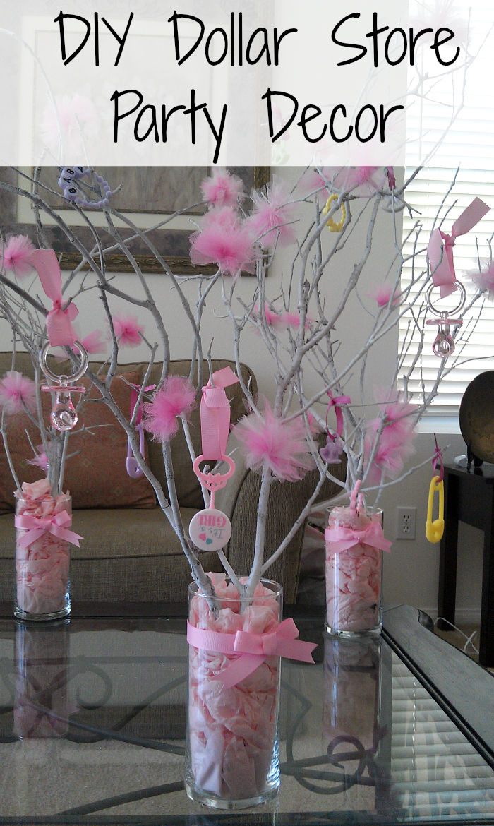 Natural Stick And Pacifier Baby Shower Decor Pictures