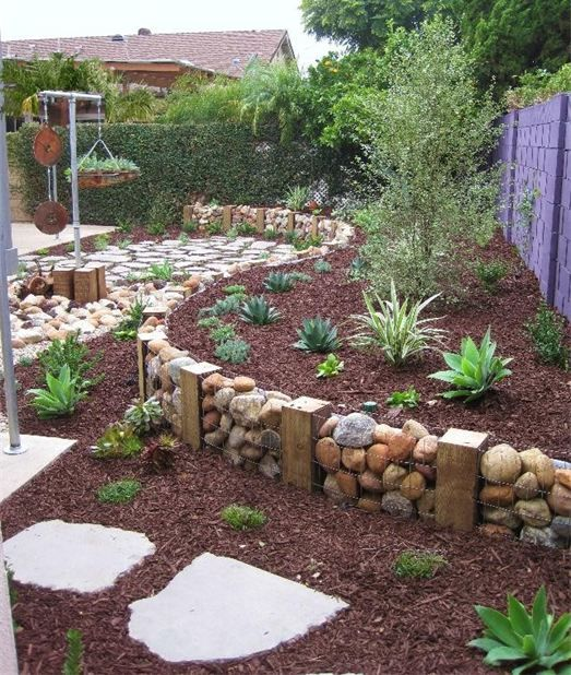 A Gabion Wall For Backyard Garden Pictures Photos and Images for