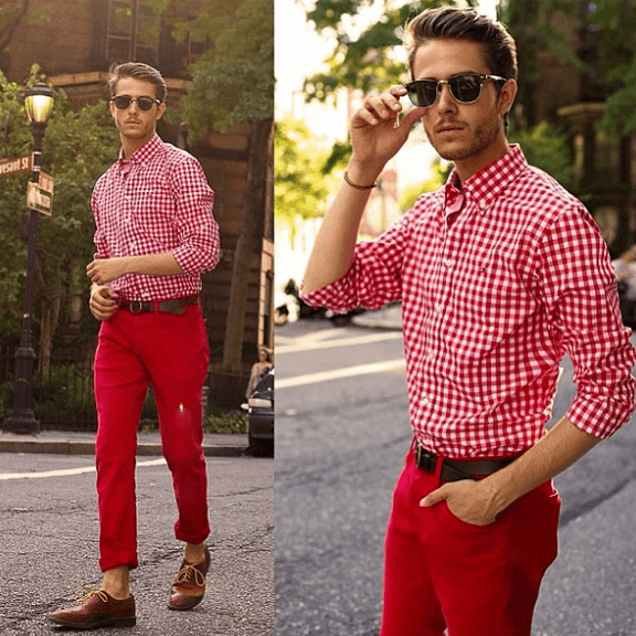 Collection Mens Red Chino Pants Pictures - Kianes