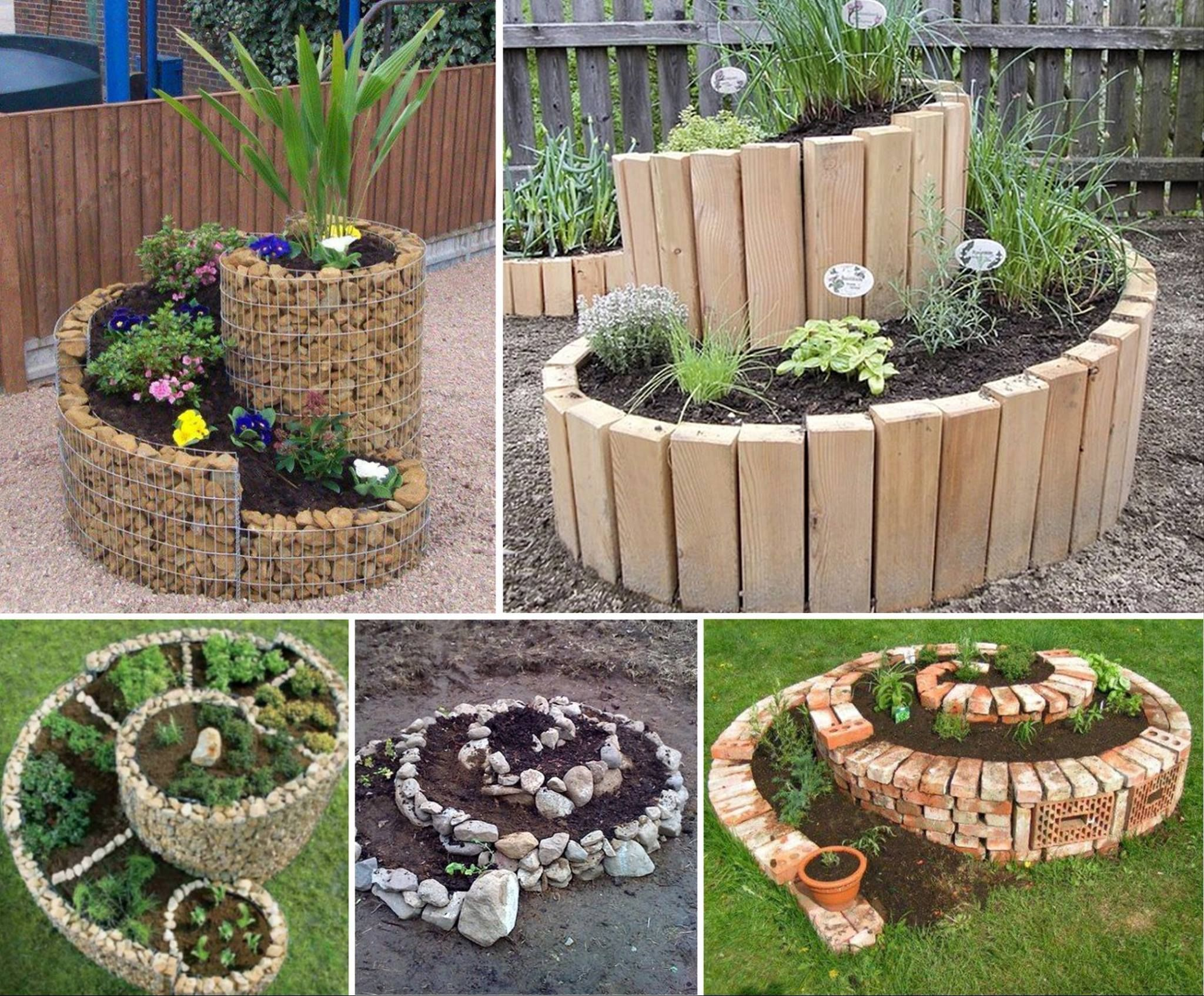 diy spiral herb gardens pictures, photos, and images for facebook