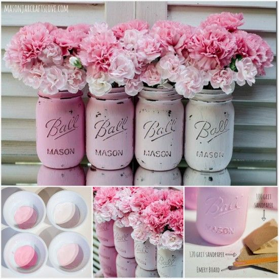 Painted mason jars pictures photos and images for facebook tumblr pinterest and twitter - Pinterest craft ideas for home decor property ...