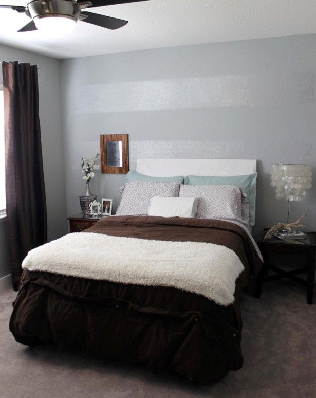 small bedroom design trends with accent wall color ideas