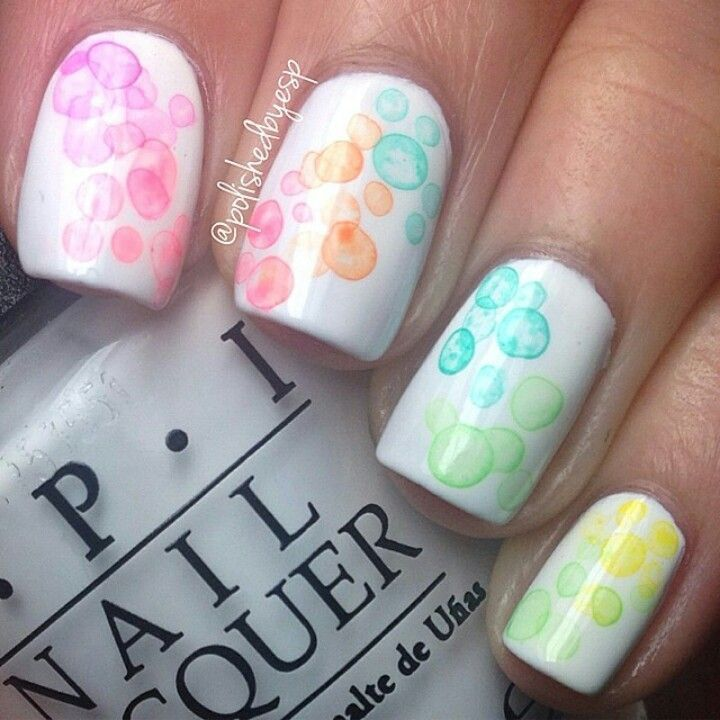 Pastel Bubble Nails Pictures, Photos, And Images For