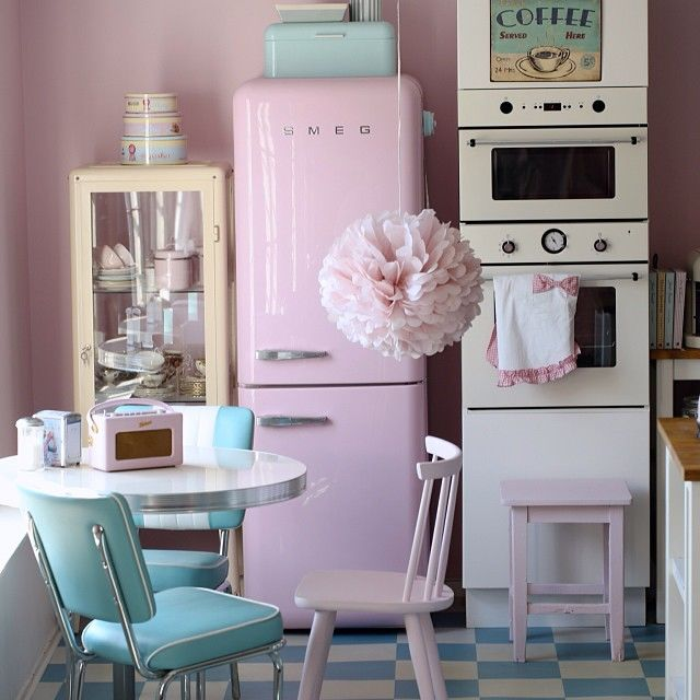 Cute Pastel Retro Kitchen