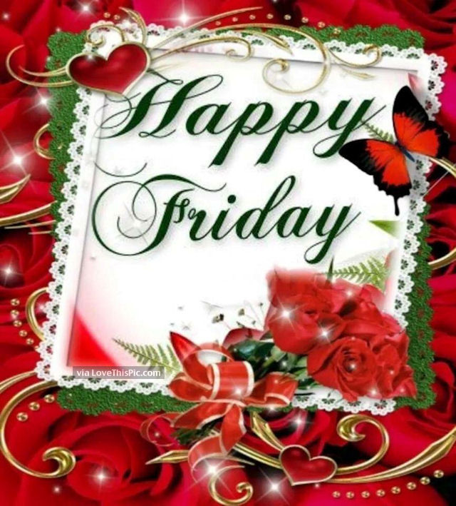 Friday Christmas Quotes: Happy Friday Quote With Flowers Pictures, Photos, And