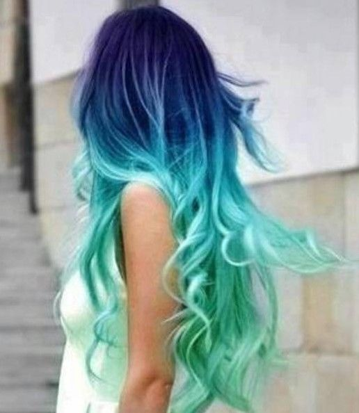 Blue And Green Ombre Hair Pictures, Photos, and Images for ...