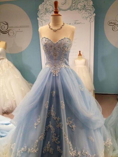 Cinderella Themed Wedding Dresses : Beautiful light blue gown pictures photos and images for
