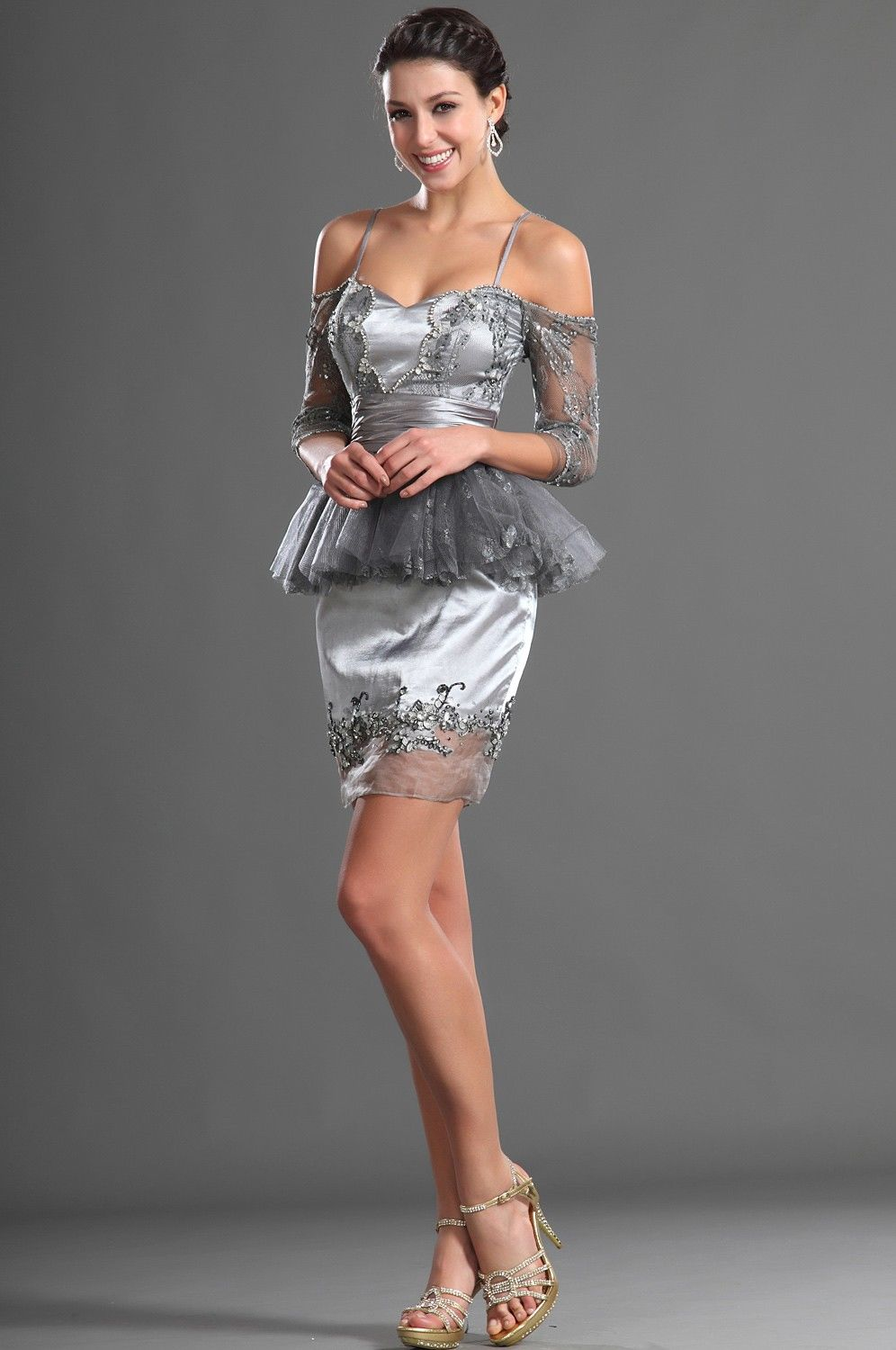 Silver cocktail dress pictures