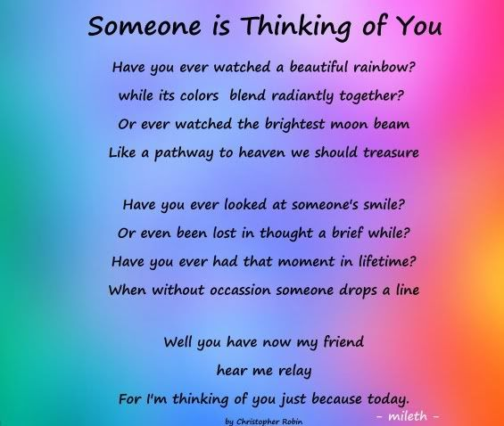 Someone Is Thinking Of You Pictures Photos And