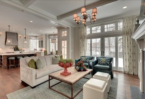 Beautiful Kitchen Design And Family Room Floor Plans ...
