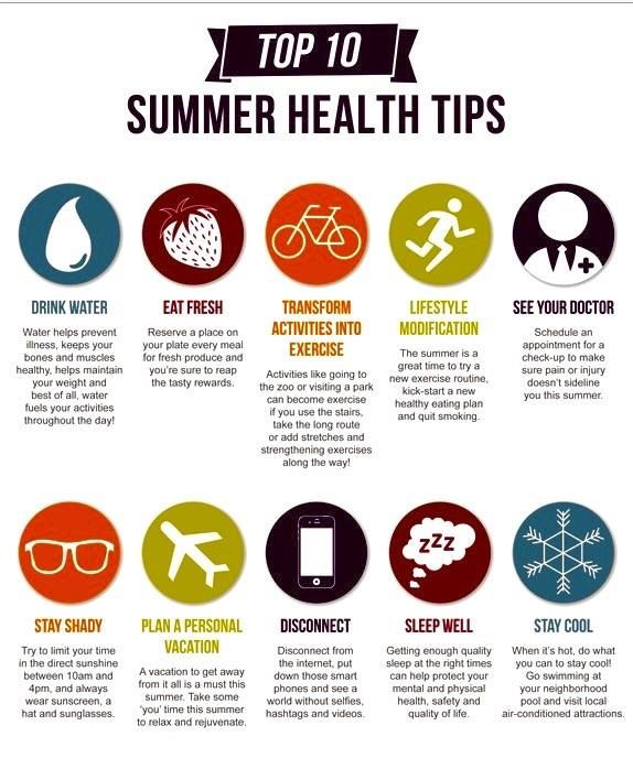 Top 10 Summer Health Tips Pictures, Photos, and Images for Facebook