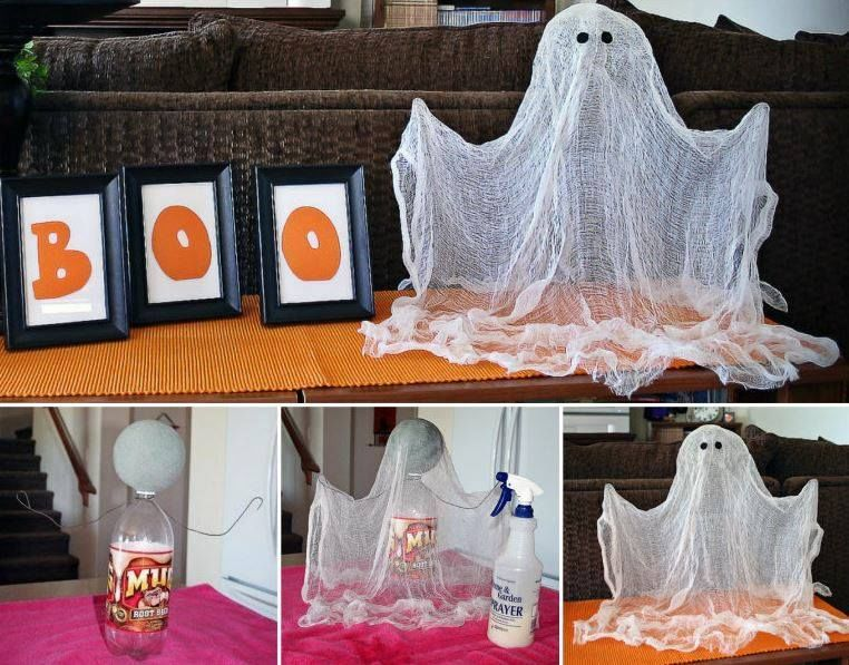 Diy floating ghosts pictures photos and images for - Idee de decoration pour halloween ...