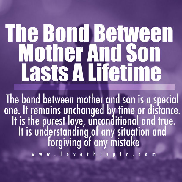 The Bond Between Mother And Son Pictures, Photos, and Images for