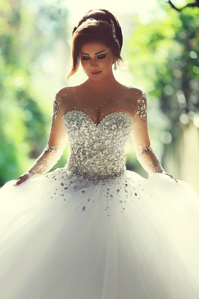 Sparkley White Wedding Dress Pictures, Photos, and Images for ...