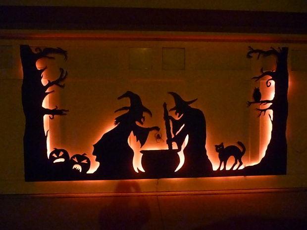 Halloween Garage Door Silhouette Pictures Photos And
