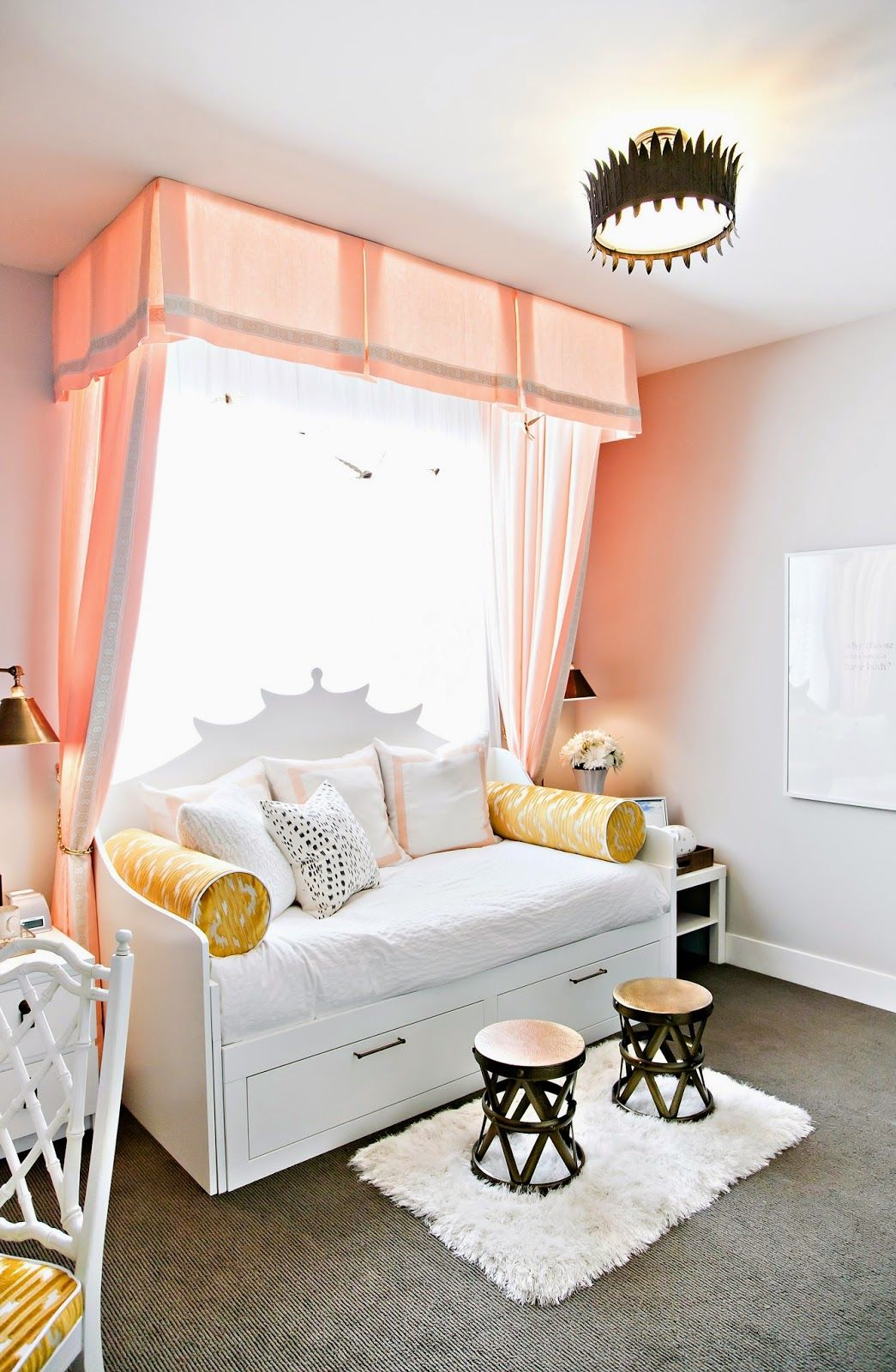 Peach Bedroom Teen Bedroom In Peach Mustard Pictures Photos And Images For