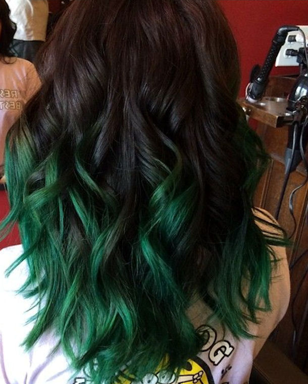 Dark To Green Ombre Hair Pictures, Photos, and Images for ...