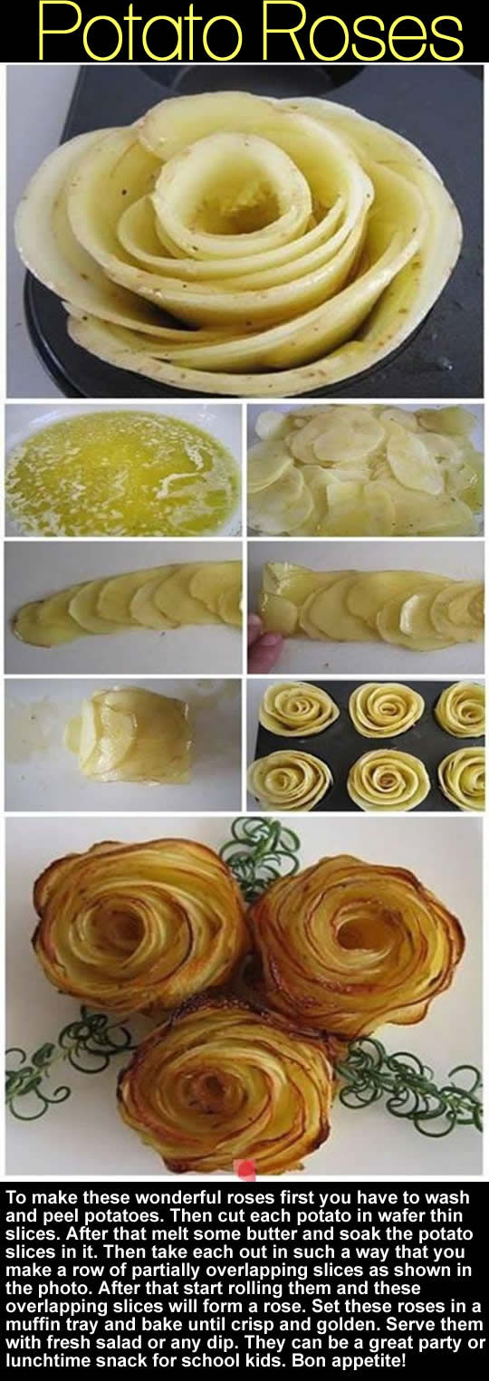 Diy potatoe roses pictures photos and images for for Diy rose food