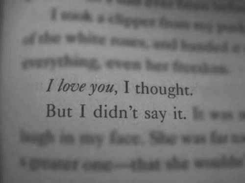 I Love You I Thought But I Didn't Say It Pictures, Photos