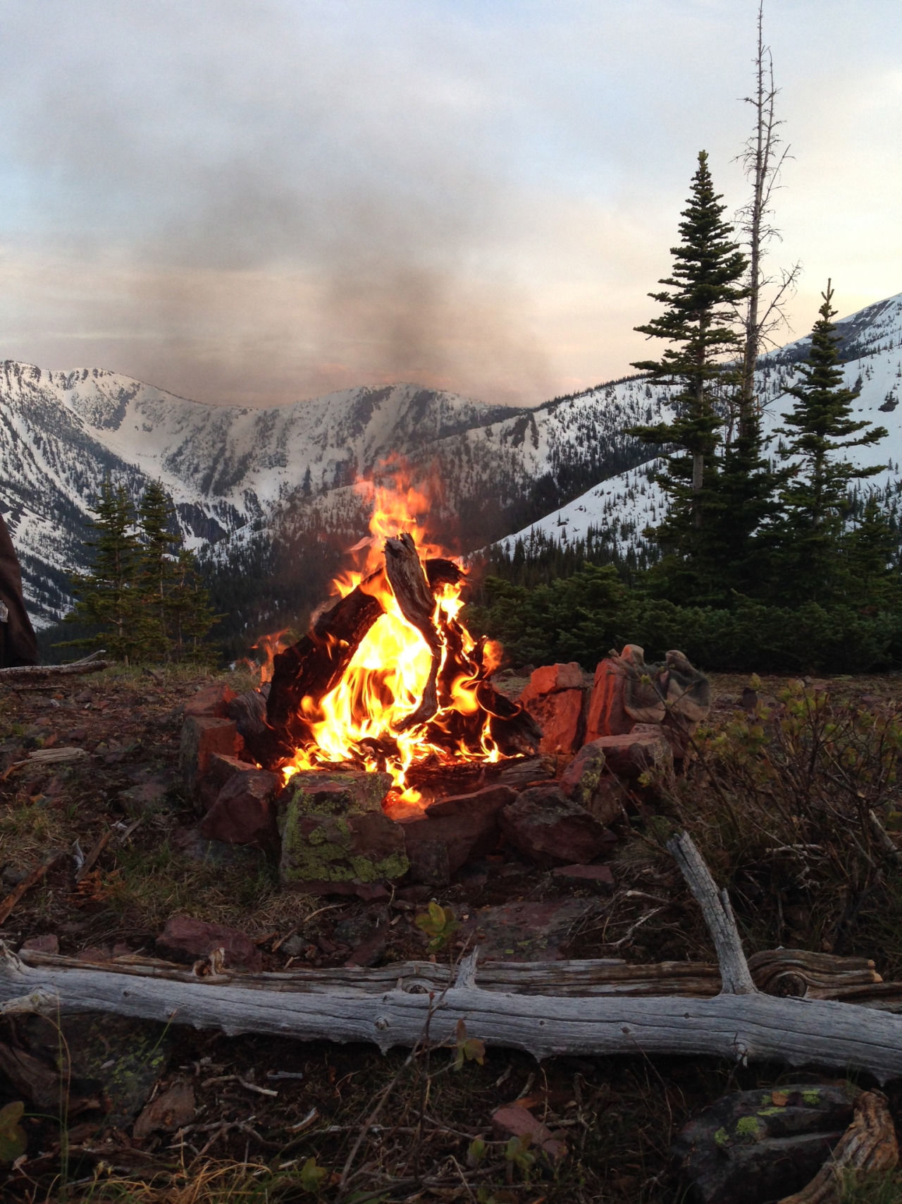 Camp Fire In The Mountains Pictures Photos And Images