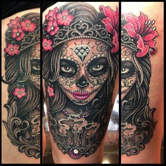 Sugar Skull Mask Tattoos Pictures, Photos, And Images For