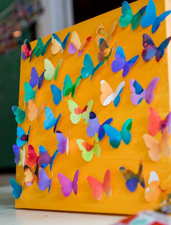 Cool 3d butterfly craft for kids pictures photos and for Butterflies for crafts and decoration