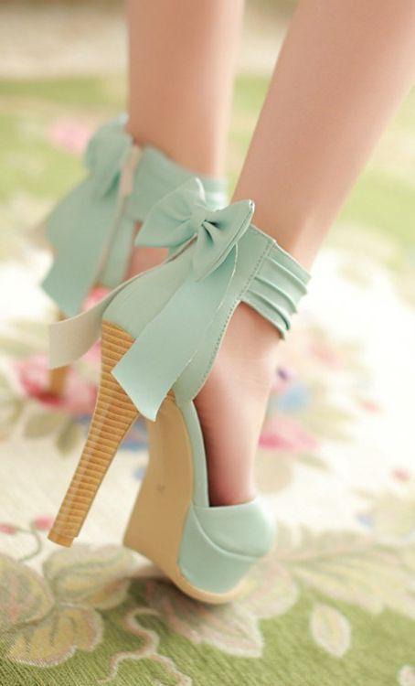 fc3ecfaf0e8 Stylish High Heel Ankle Strap Blue Bow Design Sandals Pictures ...