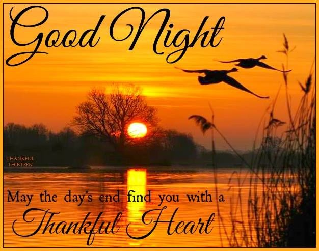 Good Night End The Day With A Thankful Heart Pictures, Photos, and Images  for Facebook, Tumblr, Pinterest, and Twitter