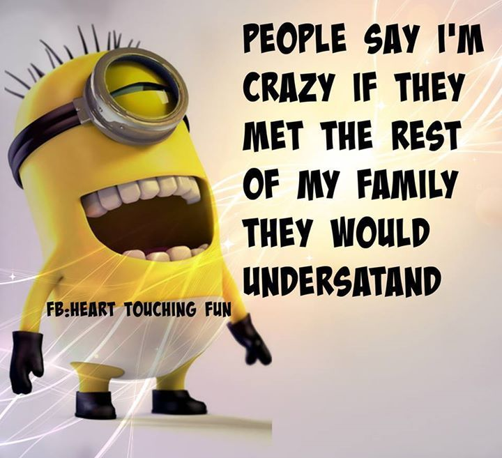 Crazy With Friend Quote : People say i m crazy they should meet my family pictures