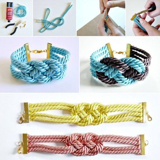 Easy DIY Knotted Cord Bracelet Tutorial