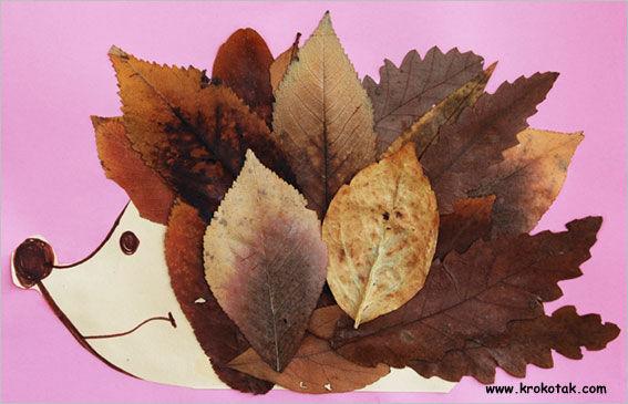 Фото поделки с листьев