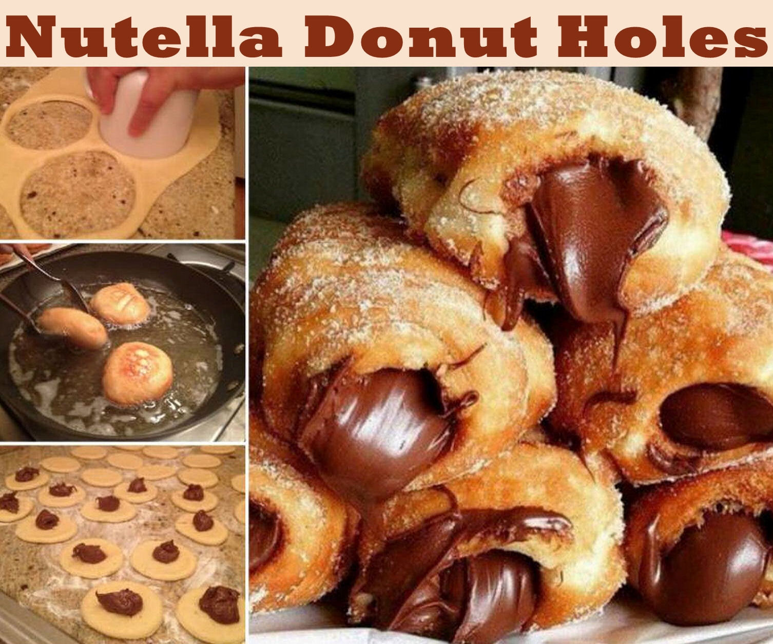 Nutella Donut Holes Food Tutorial Photos