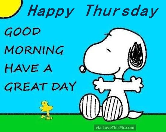 Good Morning Snoopy Quotes : Snoopy happy thursday good morning pictures photos and