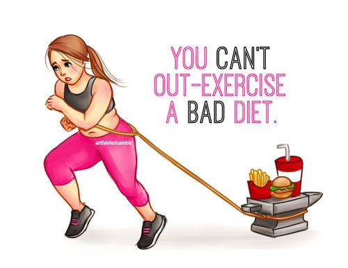 You Can't Out Exercise A Bad Diet Pictures, Photos, and ...