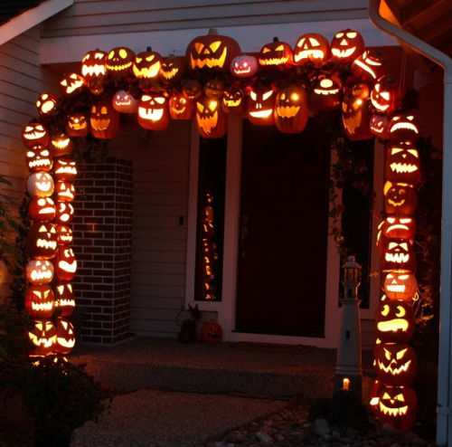 Jack O Lantern Porch Entryway Decor Pictures, Photos, And