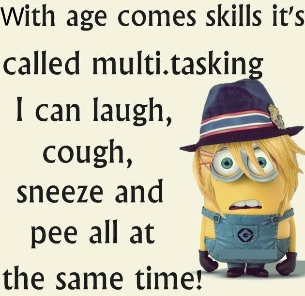 25 Funny Minions Happy Birthday Quotes: Funny Minion Quote About Multitasking Pictures, Photos