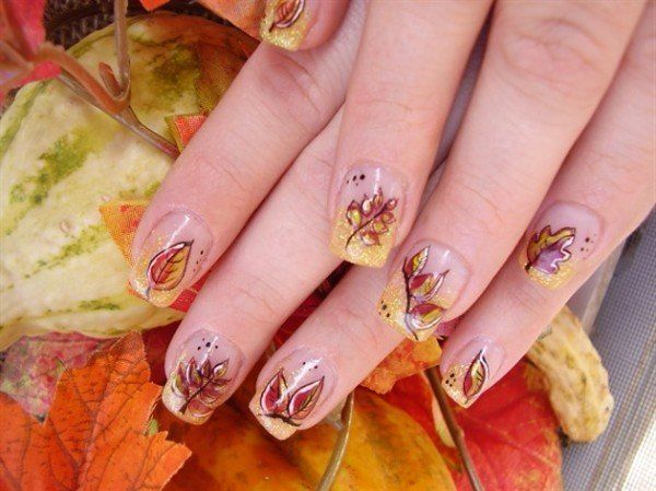 Autumn Leaf Nails Pictures, Photos, and Images for Facebook, Tumblr ...