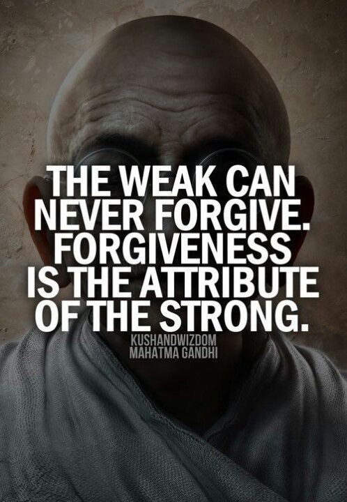 The Weak Can Never Forgive. Forgiveness Is The Attribute ... Friends With Kids Poster