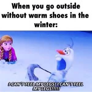 When You Go Outside Without Warm Shoes In The Winter