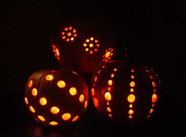Pumpkin Carving With A Drill Pictures Photos And Images