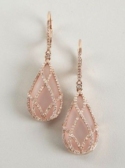 Pink Rose Gold Earrings Pictures Photos and Images for Facebook