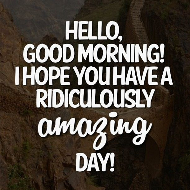 Quotes For A Good Day: Good Morning Hope You Have A Ridiculously Amazing Day