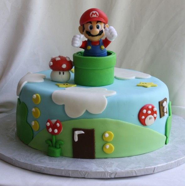 Cute Mario Birthday Cake Pictures Photos and Images for Facebook