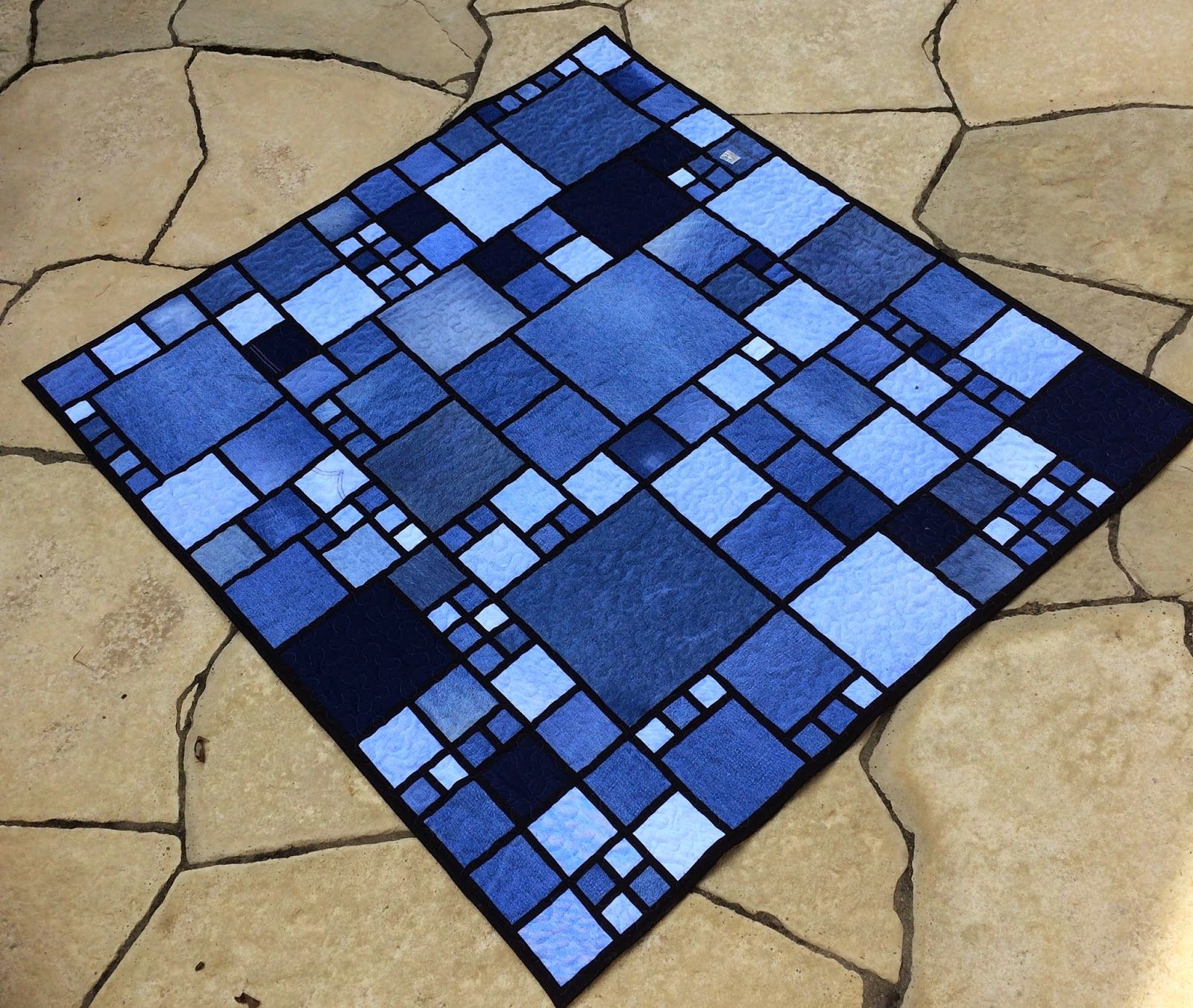 quilt a recycled jeans make gorgeous denim blue nebraska from
