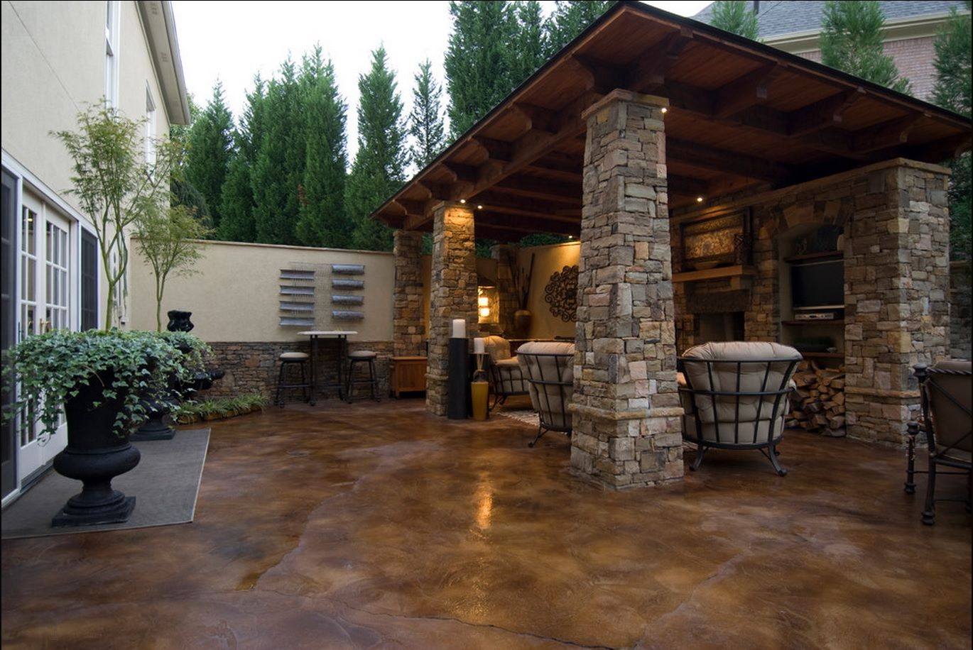 Stained Concrete Slabs Pictures, Photos, and Images for ... on Concrete Slab Patio Ideas id=38038